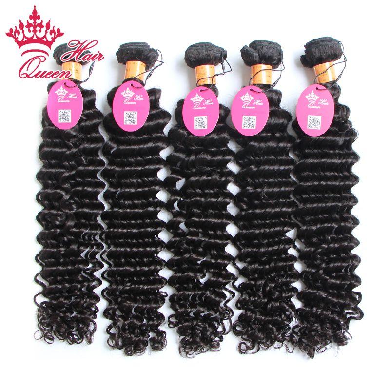"""Королева волос Индийский Кули девственные волосы 8""""- 28"""" индийская глубокая волна человеческих волос расширение качество может быть окрашена DHL Бесплатная доставка"""