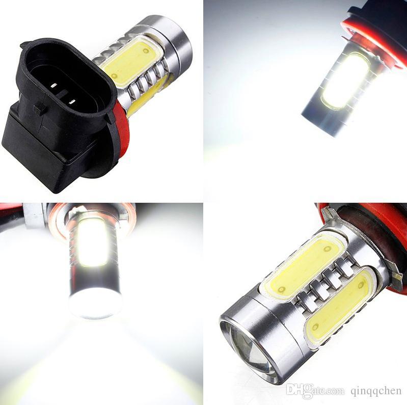 4 teile / los Heißer Verkauf H11 7.5w High Power COB LED Birne Auto Auto Licht Quelle Projektor DRL Fahren Nebelscheinwerferlampe Xenon Weiß DC12V