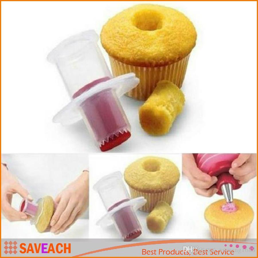 Brand New Eco-Friendly Cake Tools Cupcake Plunger corer Cutter Creative DIY Cake Corer Decorating Divider Free Shipping