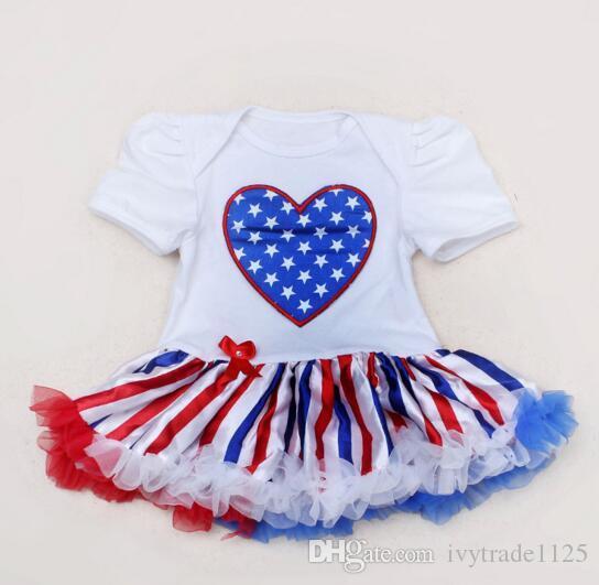 Acquista Nuovi Arrivi Bandiera Americana 4 Luglio Independence Day Baby  Tutu Dress Vestito Bandiera Americana BABY Borsa Gonne A Tracolla Libera La  ...