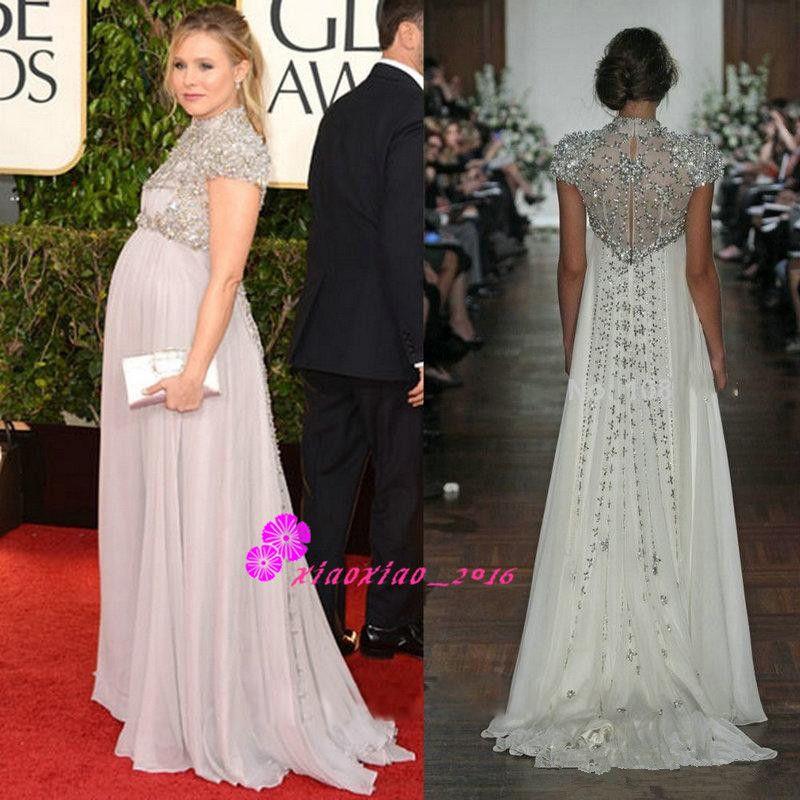 2016 empire waist maternity evening dresses custom plus size