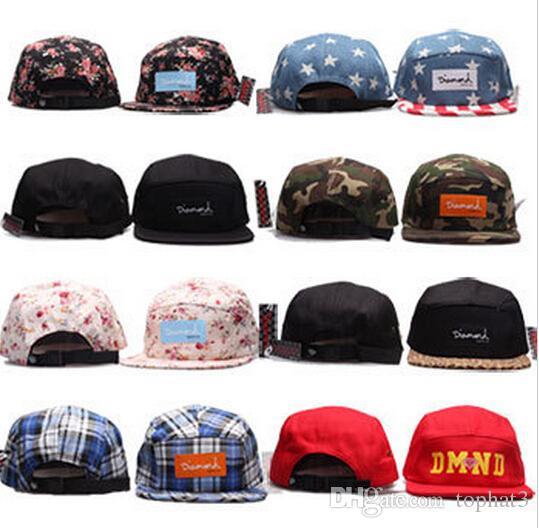 2018 أحدث الرجال النساء الماس 5 لوحة snapback البيسبول snapbacks sf كرة القدم قبعات الرجال شقة قبعات قابل للتعديل كاب الرياضة قبعة مزيج النظام
