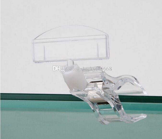 Free shipping Clear POP Plastic Sign Paper Card Display Price Label Tag Promotion Clips Holders In Supermarket Retails 10pcs