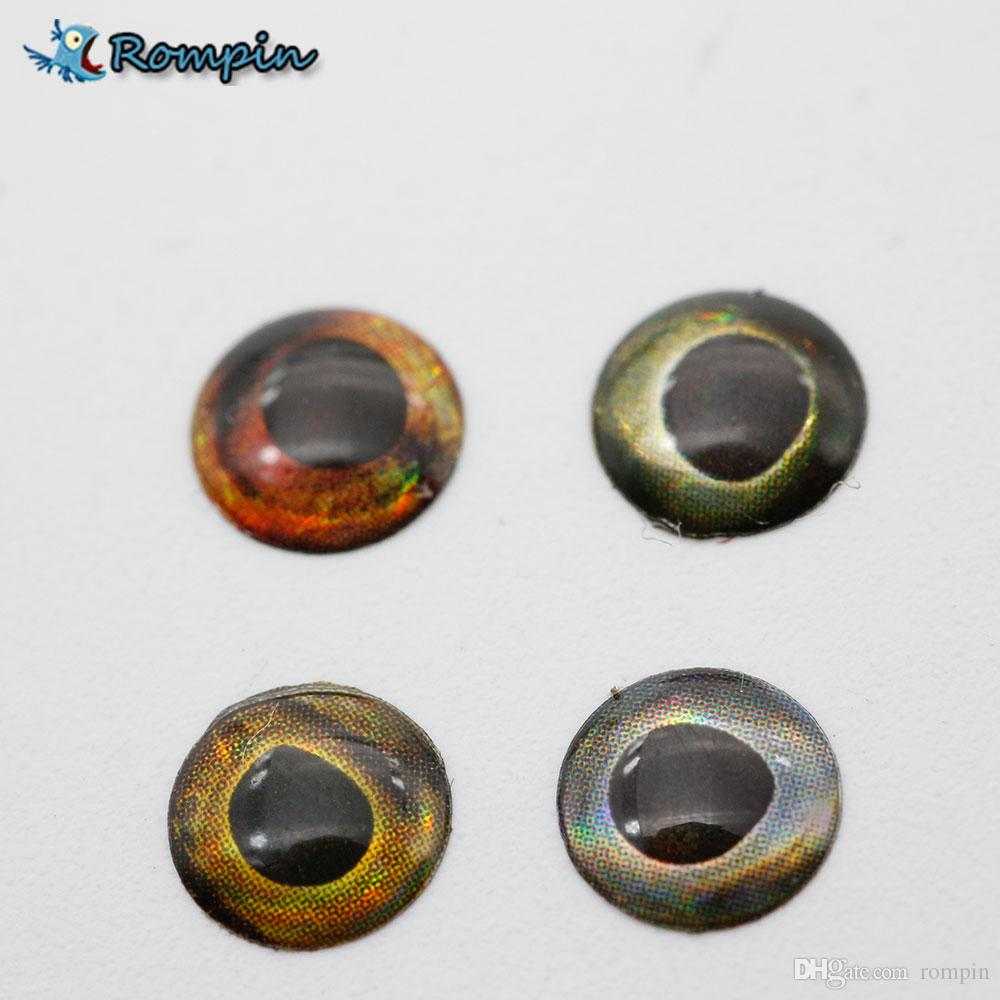 Rompin 100pcs 5.8mm Special 3D Fishing Lure fish Eyes for Unpainted Crankbaits Lure Bodies Blank Minnow Hard Baits Tackle Craft