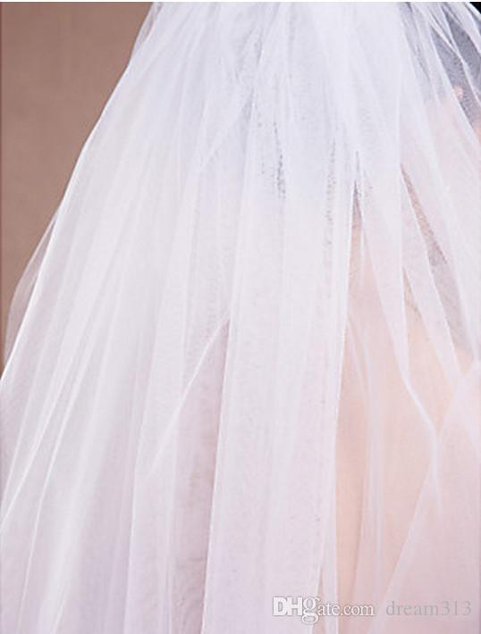 Новые высококачественные сексуальные романтические два слоя пальца вырезать кромки вуаль свадебные кусочки для свадебных платьев