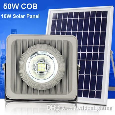 Outdoor Solar LED Flood Lights 50W Aluminum Diecast 70-85LM Lamps Waterproof IP65 Lighting Floodlight Battery Panel Power Shenzhen China