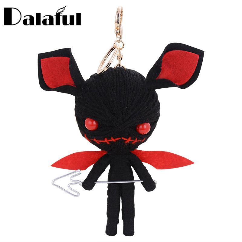 beijia Hand-made Woven Key Chains Rings Holder Knitting Voodoo Doll Demons Monsters Evil Bag Pendant Keyrings KeyChains K285