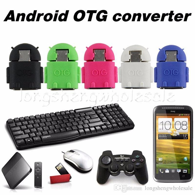 commerce de gros Micro à la forme de robot USB pour les applications adaptateur OTG pour téléphone intelligent, câble Micro OTG, adaptateur Micro OTG 1000pcs