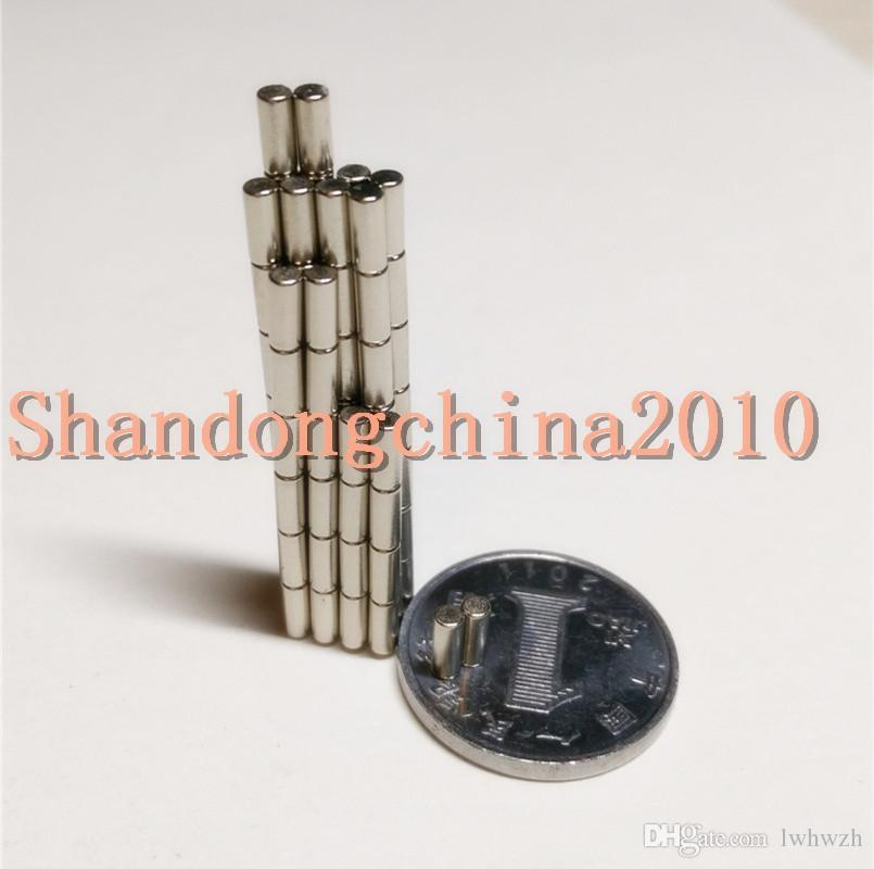 Wholesale - In Stock 500pcs Strong Round NdFeB Magnets Dia 2x5mm N35 Rare Earth Neodymium Permanent Craft/DIY Magnet Free shipping