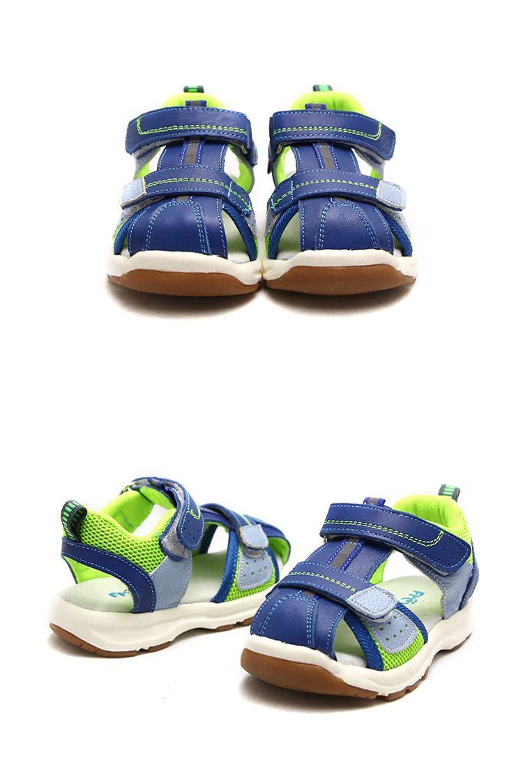 Sandálias de verão Freycoo função sapatos sapatos de couro da criança do bebê para meninos e meninas tesouro luz confortável