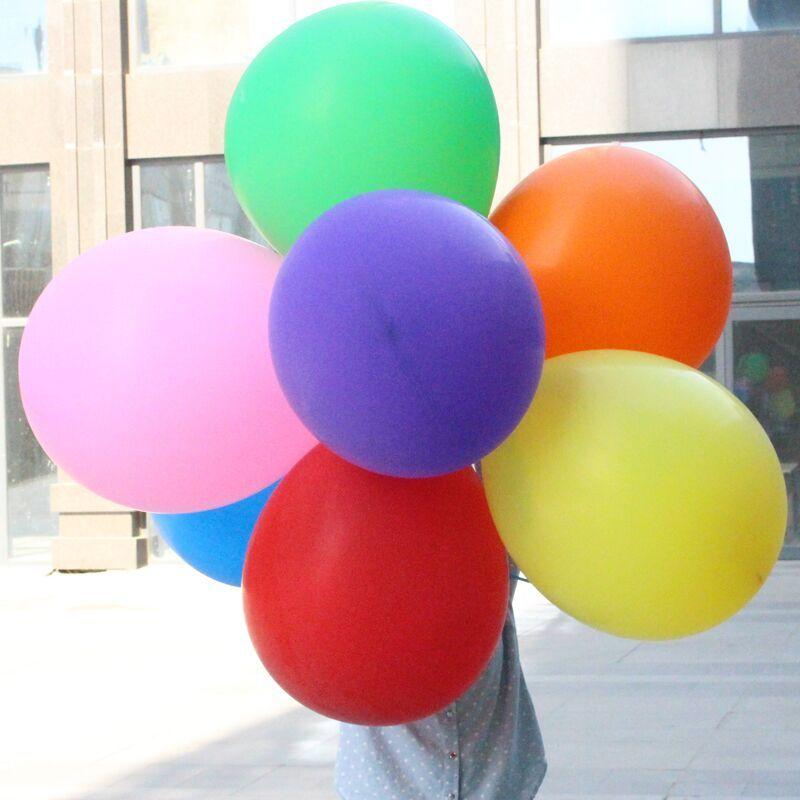 10 pcs 24 polegadas Latex Redonda Balão Grande Cores do Partido Balões Gigantes de Casamento Feliz Aniversário Aniversário Decor 50 cm novo
