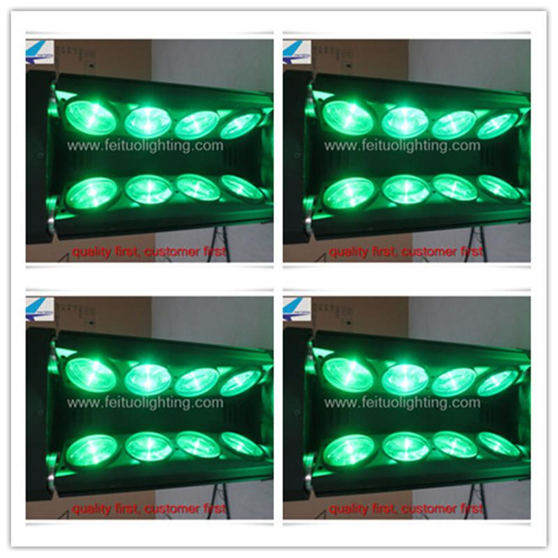 (2lot / CASE) Konzertbeleuchtung führte Spinnenlicht 8x10w 4in1 Moving Head Spider Flightcase
