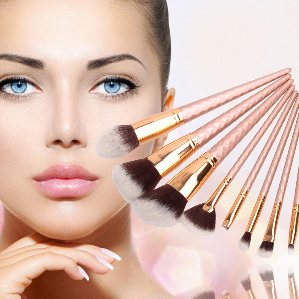 8 pçs / lote / conjunto de maquiagem cosméticos pincel Pinceaux Pincel Maquillage para olhos Facial Foundation sombra Blush Brush Set