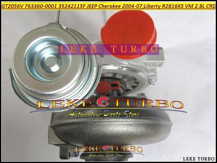 GT2056V 763360 763360-5001S 763360-0001 35242115F Turbo Turbocharger For Jeep Cherokee 2.8L CRD 2004-07 Liberty 2004 150HP 163HP R2816K5 VM (1)
