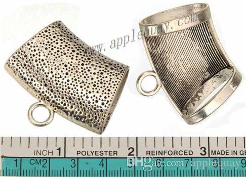 bijoux résultats bricolage écharpe bails pendentifs connecteurs grande femme filles vintage curseur en argent grand trou métal hiver accessoires 44mm 30pcs