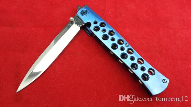 Aço frio de alta qualidade 26S Paris azul Material da lâmina AUS-8 ao ar livre sobrevivência acampar faca de caça faca dobrável frete grátis D2 1pcs