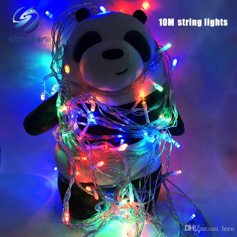 Christmas light Holiday Sale Outdoor 10m 100 LED string 8 Colors choice Red/green/RGB Fairy Lights Waterproof Party Christmas Garden light