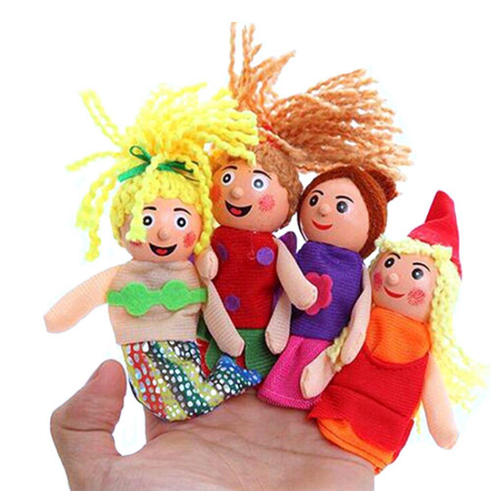 4 Pcs/set Puppets Little Mermaid Christmas Animal Finger Puppet Finger Toy Finger Doll Funny Pretty Kids Baby Toys Wholesale