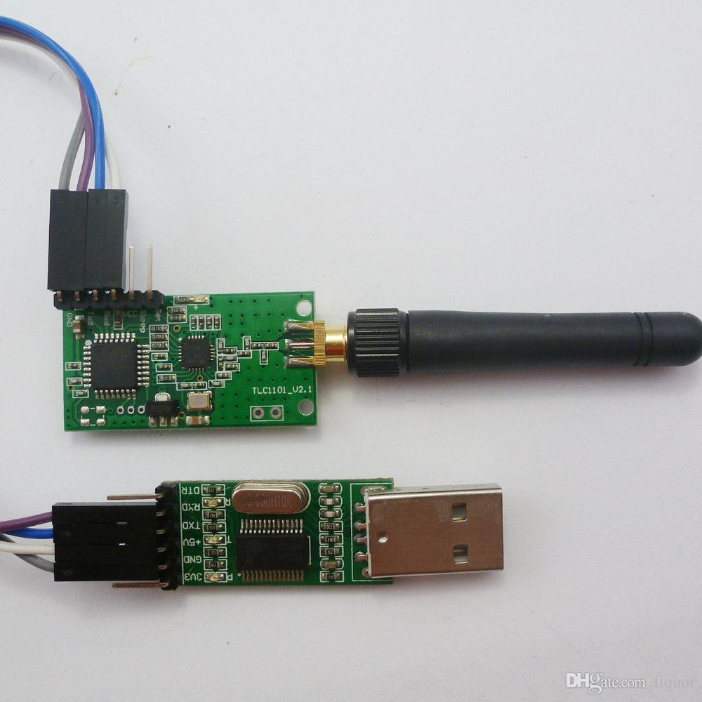 USB zu TTL232 Wireless RF Daten Transceiver Modul 10mW UART MAX232 RS232 CC1101