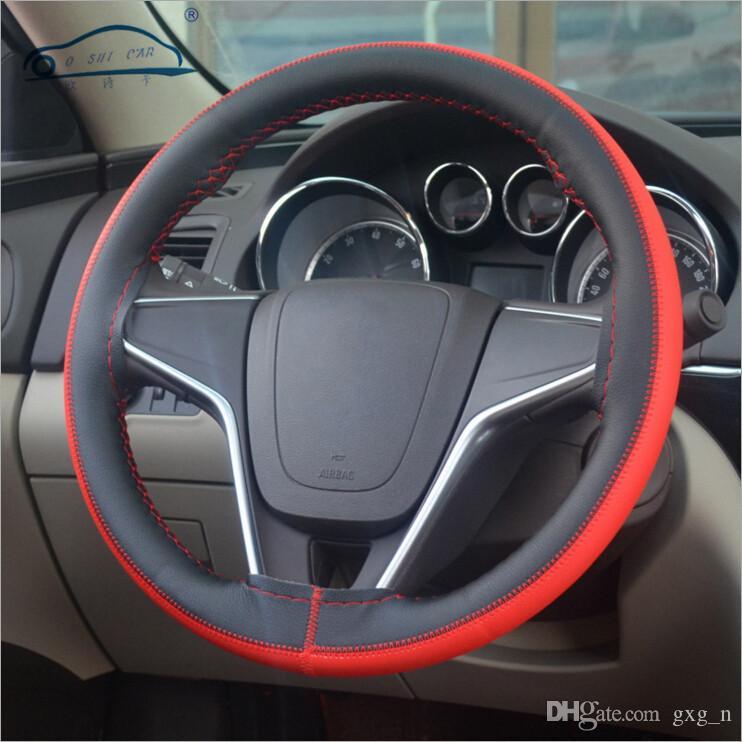 Досуг кисть цвет топ кожа руль Оплетка рулевое колесо/DIY очень прочный руль обложка кожи