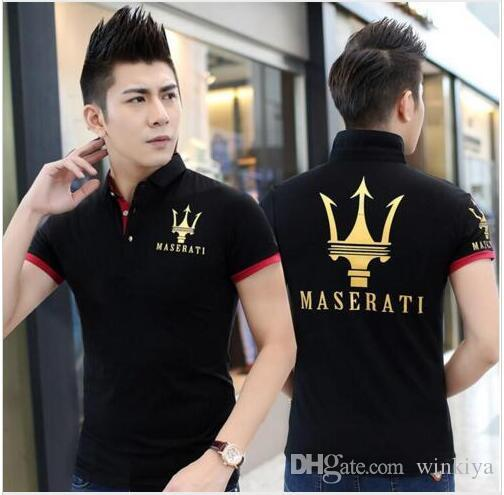 MASERATI EXCELLENCE THROUGH PASSION l Kurzärmliges T-Shirt aus Baumwolle Mercedes F1 Herren T-Shirt New DIY Style Maserati Shirt