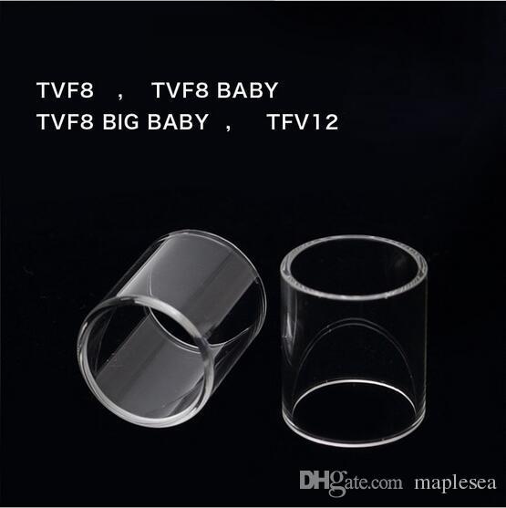 TFV8 Bebek Beast TFV8 Büyük Bebek TFV 8 TFV12 Subtank mini nano Cam Tüp Pyrex Yedek Kap DHL Ücretsiz