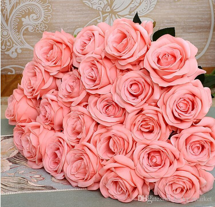 Hot Bride Artificial Flowers Silk Flower House Living Room Tables ...