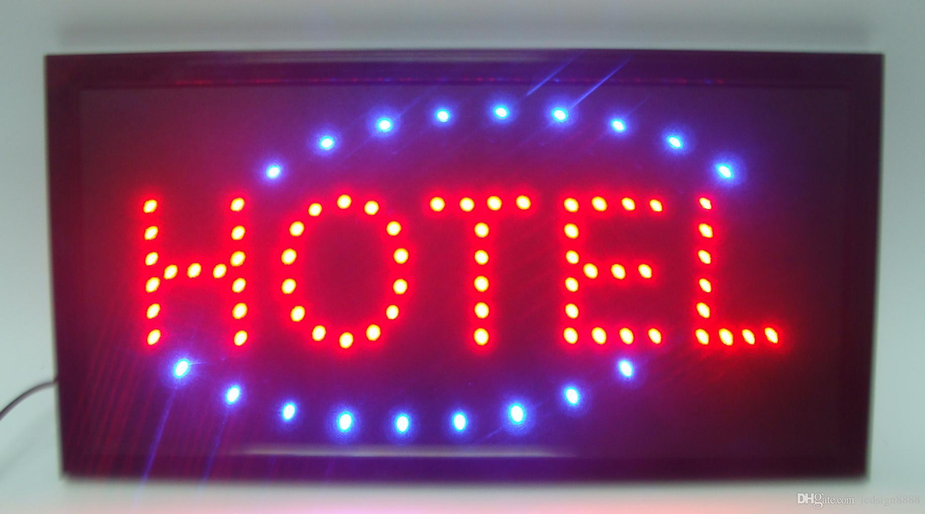 LED Hotel Schild 10x19 Zoll Indoor Ultra Hell Running Hotel Shop Neon Light Sign Board