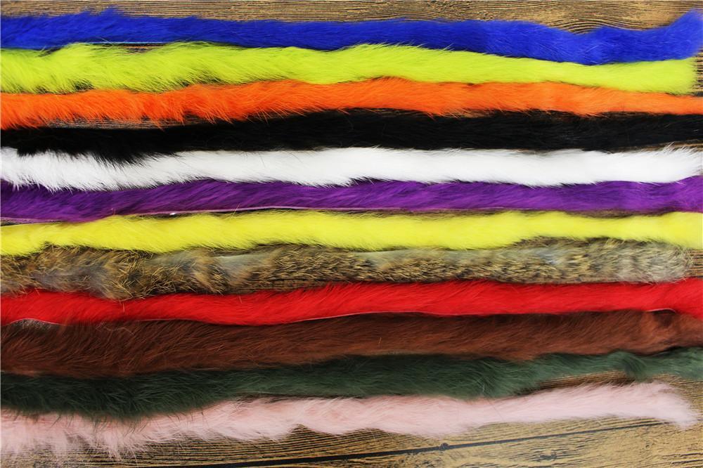 Tigofly Высочайшее Качество 12 Цветов Прямой Кролик Zonker Полосы Ширина 5 ММ Подлинная Волосы Меха Заяц Стримеры Fly Tying Материалы