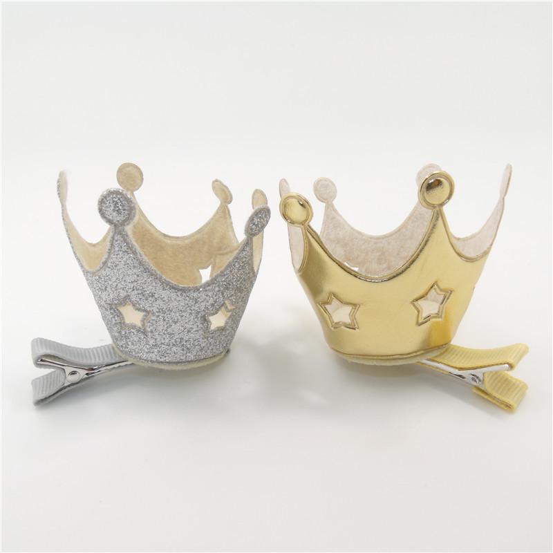 Девушки Корона Заколки Для Волос С Резными Звезда Форма Золото И Серебро Корона Заколки Для Волос Детские Девушки Классические Заколки Клип Милый Головные Уборы