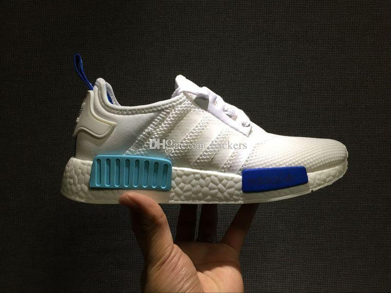 NMD Runner R1 W Blue Glow Running Shoes Mens Womens Athletic