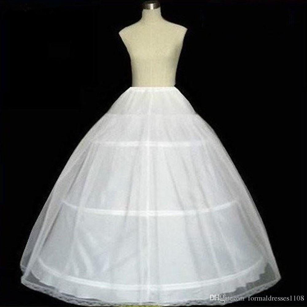 جديد 3 الأطواق منتفخ التنورة الداخلية تحتية القرينول زلة ل الكرة ثوب الزفاف فستان حفلة موسيقية اللباس quinceanera