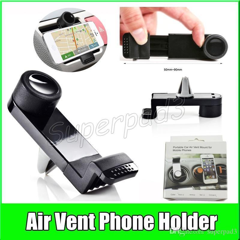 실용적인 휴대 전화 액세서리 유니버셜 자동차 공기 통풍 휴대 전화 홀더 마운트 아이폰 7 삼성 노트 7 GPS 미니 스트레치 브래킷 DHL