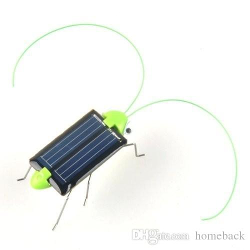 Newest Plastic Solar Energy Grasshopper Toy Best Electric Cricket For Kids Solar Education