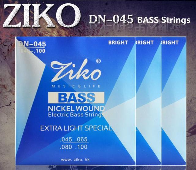 3 sets / lot 045-100 DN-045 ZIKO basse guitare cordes guitare parties en gros instruments de musique Accessoires