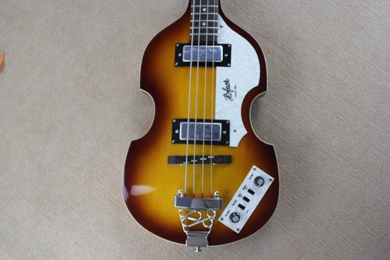 매카트니 호프 너 H500 / 1-CT 현대 바이올린 디럭스베이스 빈티지 햇살 일렉트릭 기타 화염 메이플 맨 위로 맨 2 (511B) 스테이플 픽업