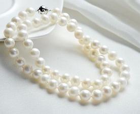 Commercio all'ingrosso rotonda naturale 9-10mm del mare del sud bianco collana di perle d'argento 18inch S925