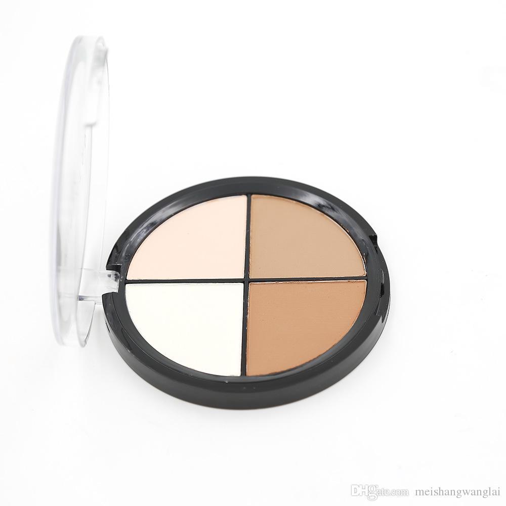 Contorno Polvo Kit 12 fotos Maquillaje profesional Cara 4 colores Polvo presionado Capacidad de reparación polvo Paleta 55086