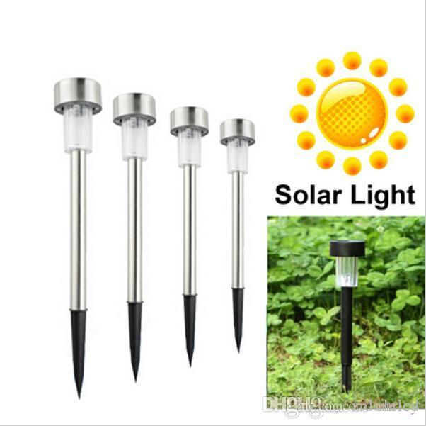 Nuevas luces solares LED Sun césped ligero jardín inoxidable al aire libre sol luz de corredor lámpara jardín al aire libre lámpara de jardín solar potencia solar lámparas solares