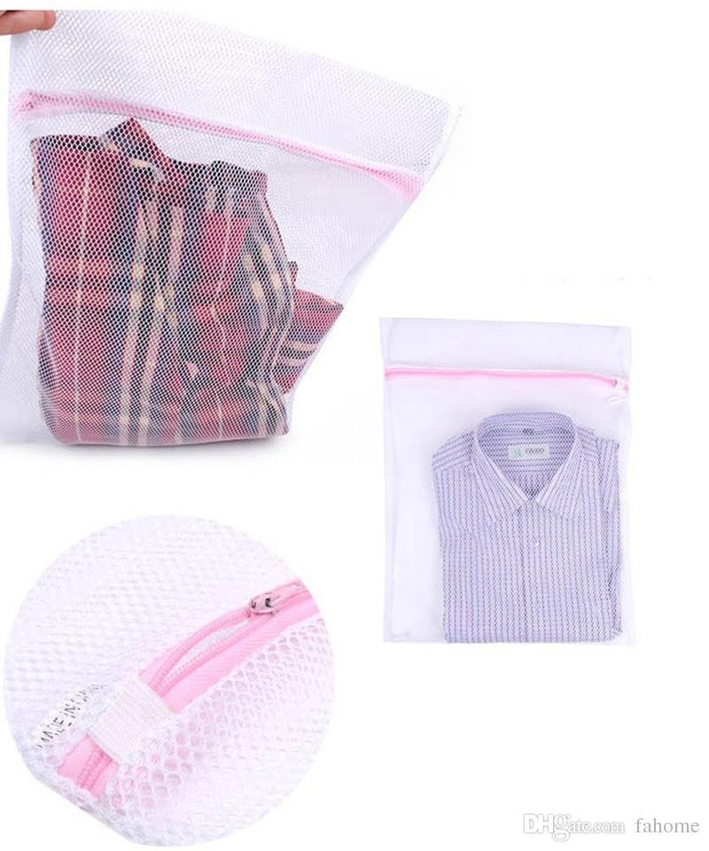 3 dimensioni / set Zippered Pieghevole lavanderia lavaggio Bag - Bra calzini Biancheria intima Abbigliamento Protezione della lavatrice Net Mesh Bags