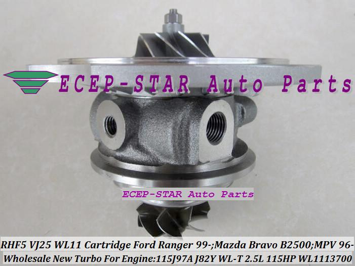 Turbo CHRA Cartridge Core RHF5 VJ25 WL11 WL1113700 VB430012 for FOR Ranger for Mazda Bravo B2500 MPV 1999- J97A J82Y WL-T 2.5L Turbocharger