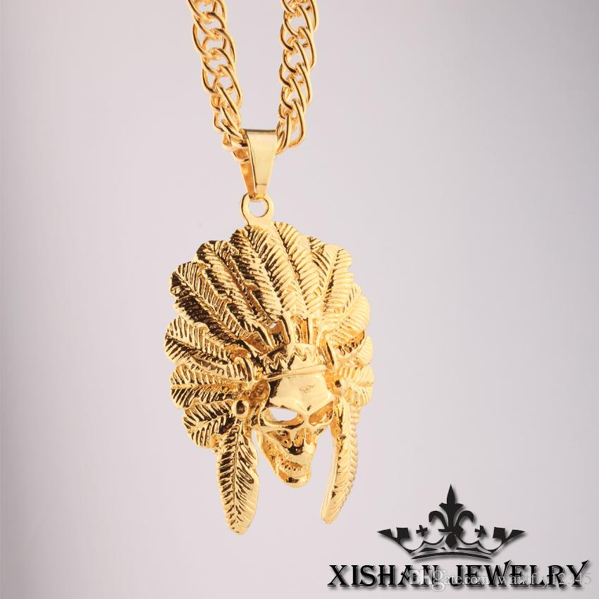 Hip hop jewelry necklace men american indian chief head 24k gold hip hop jewelry necklace men american indian chief head 24k gold plated pendant necklace 31 mozeypictures