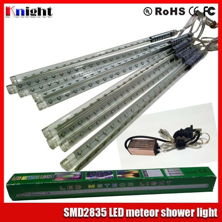 30/50/80cm smd2835 Meteor Shower set 10pcs/set led star rain tube light 220v led meteor tube christmas tree decoration lights 85-265v 100pcs