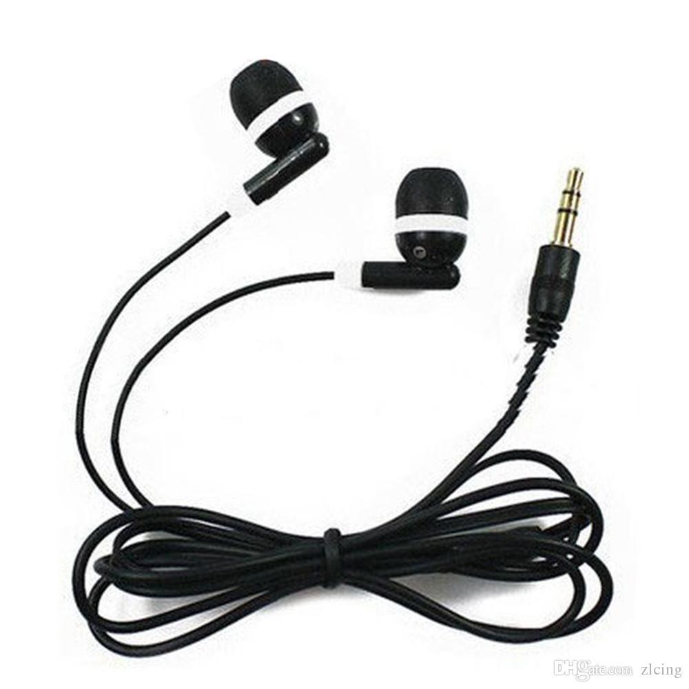 Auricolare di auricolare dell auricolare della cuffia di nuovo auricolare dell orecchio della cuffia da 3,5 mm per il telefono mobile MP3 MP4 2000PCS / lot Trasporto libero