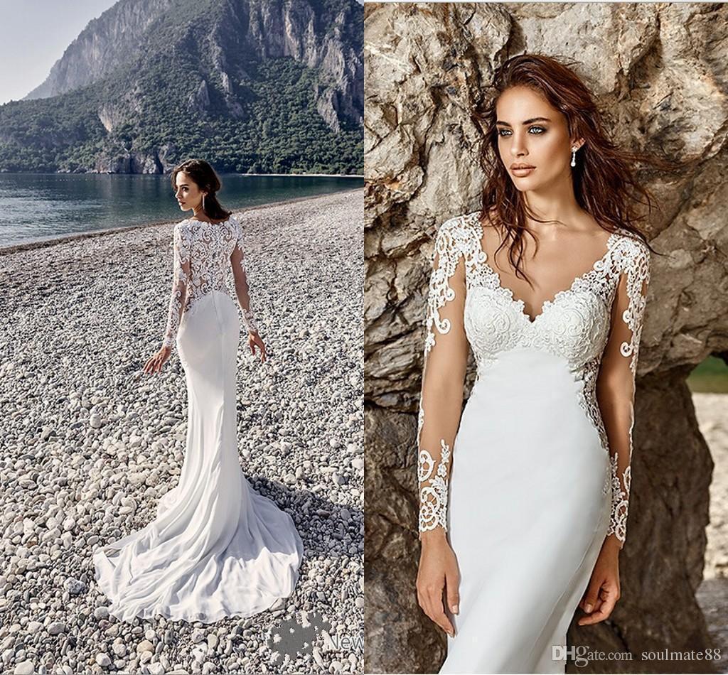 Großhandel Romantische arabische Vintage Meerjungfrau Brautkleider ...
