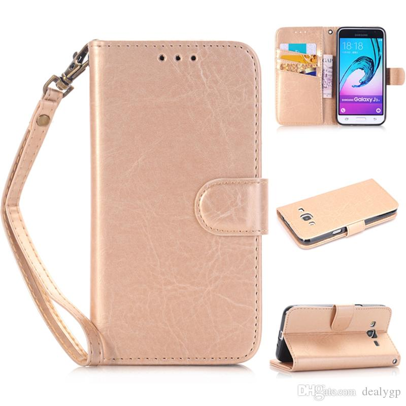 Best Quality PU Leather Phone Wallet Case Cover With Credit Card Slots For Huawei P8 Lite Y635 Y3 II