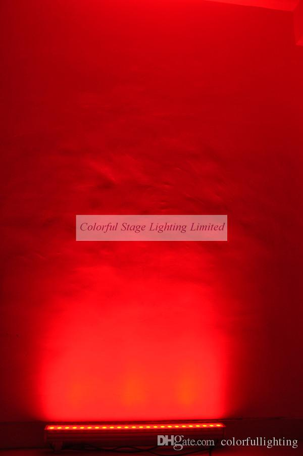 Spedizione gratuita Alta qualità 24x3W RGB Tri 1M lungo impermeabile LED parete Wash Light Wallwasher Lampade da parete per esterni Wall Washer Light