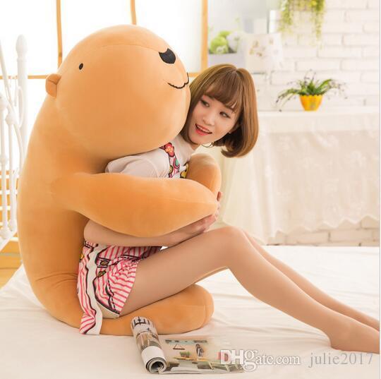 New Lovely Large Soft Animal Capybara Plush Toy Big Stuffed Cartoon Hug Pillow Cushion Bear Christmas Gift