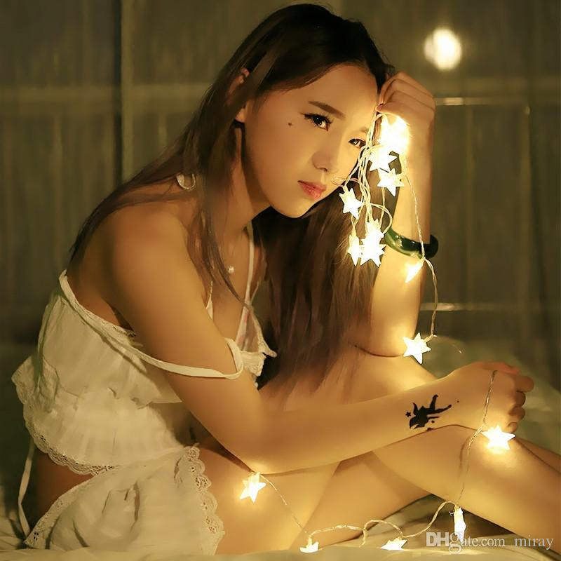 LED 2M/3M/4M/5M/10M 20/30/40/50/80Led Fairy Christmas Lights Star Battery LED string lights for holiday Wedding Party Outdoor Indoor lights