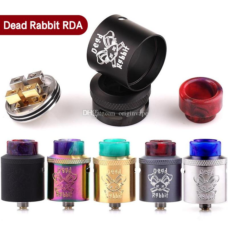 100% Authentic Hellvape Dead Rabbit RDA Atomizer Single Coil Dual Coils Rebuidable Dripper Tank with Squonk Pin Designed